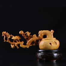 Tallado de madera parágrafo mesa de té chino, colección de tallado artesanal, paisaje parágrafo habitación, decoración de flores y pájaros