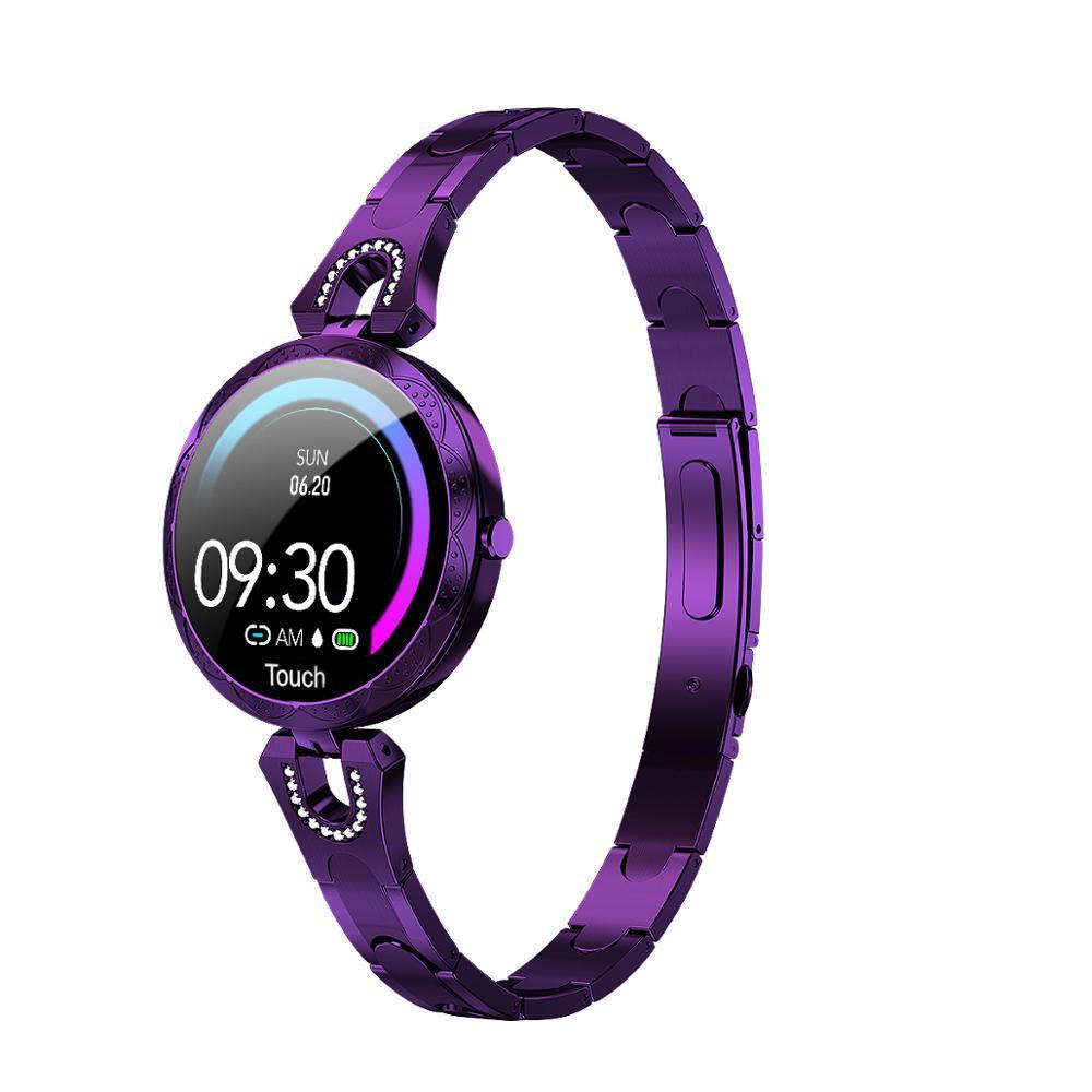 AK15 femmes montre intelligente mode montre en acier étanche montre fréquence cardiaque étape fitness tracker pour Android IOS dames montres PK H8