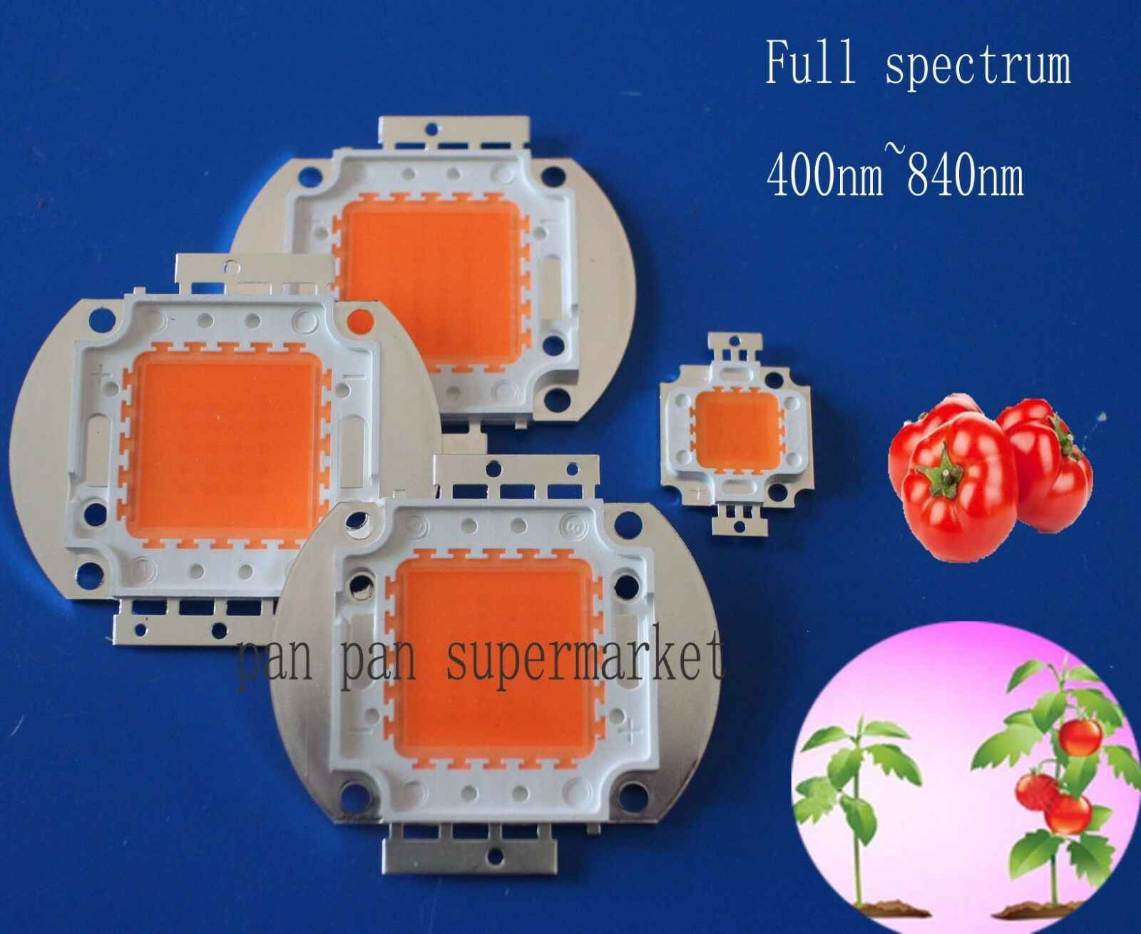 Full Spectrum LED Grow Chip 380-840nm Nyata Watt 1W 3W 10W 20W 30W 50W 100W 35mil LED Lampu Tanam Kualitas Cahaya