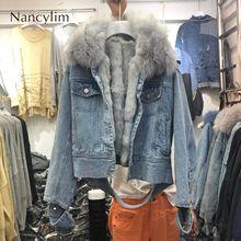 2019 Winter Natural Fur Coat Short Jacket Womens New Rabbit Fur Liner + Fox Fur Collar Padded Warm Jackets Girls Lady Warm Coat стоимость