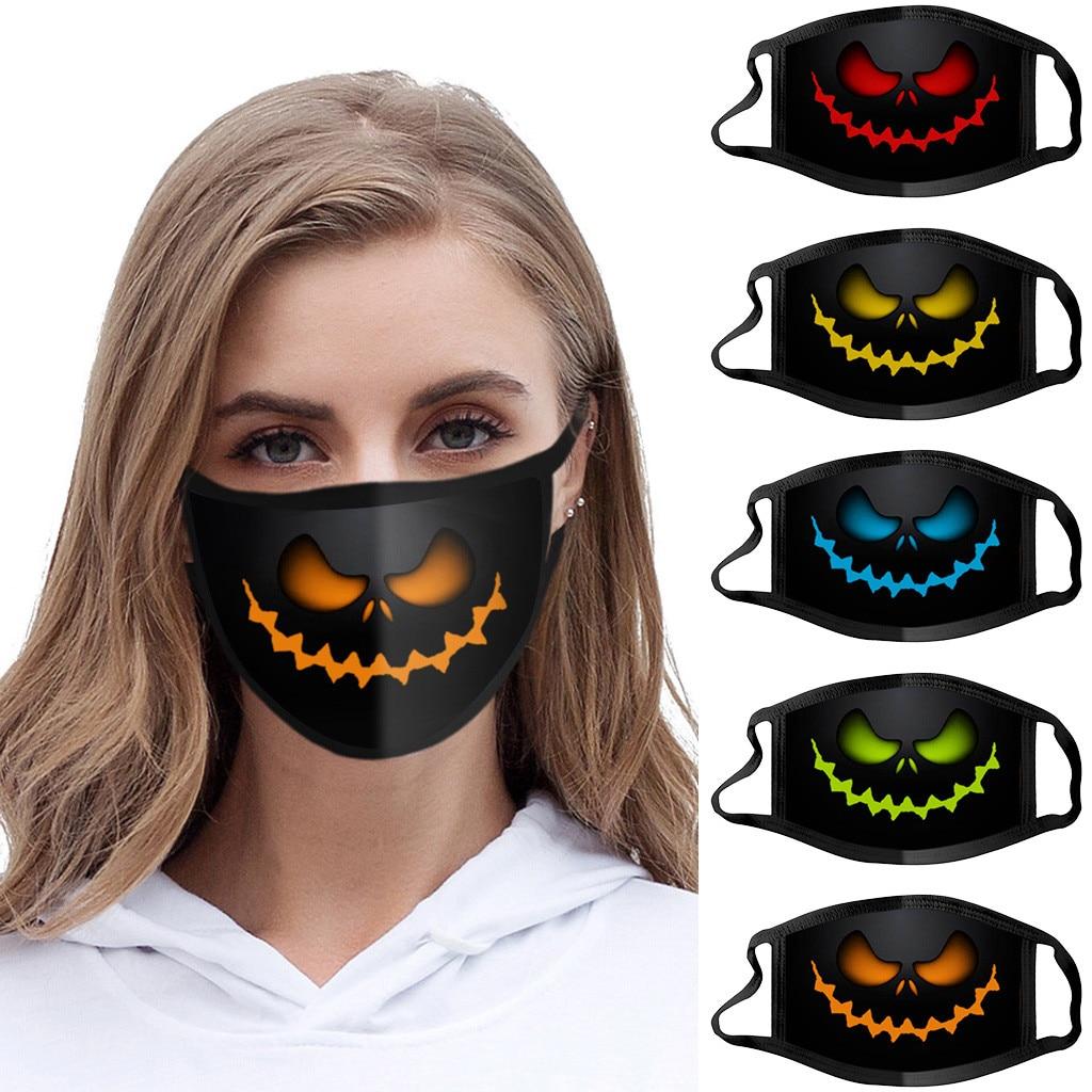 1 шт., Пыленепроницаемая ветрозащитная смываемая маска с принтом на Хэллоуин, моющаяся многоразовая дышащая маска для лица|Женские маски|   | АлиЭкспресс
