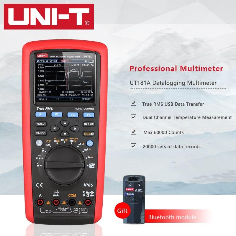 UNI-T UT181A Digital Datalogging Multimeter Smart True RMS Auto Range Dual Temperature Measurement With Bluetooth Module