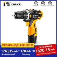 DEKO-Mini destornillador eléctrico inalámbrico, DKCD12/16/20V, batería de iones de litio CC, sin llave, para el hogar