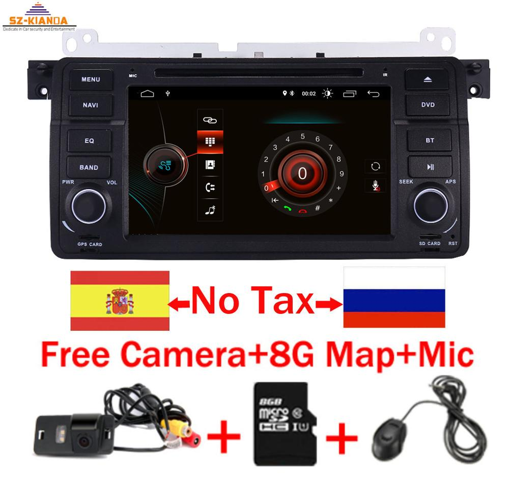 1Din z systemem Android 10 nawigacja samochodowa GPS dla BMW E46 M3 Rover 75 Coupe 318/320/325/330/335 samochód Multimedia radiowe odtwarzacz DVD auto Stereo