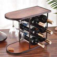 Полка для хранения вина из твердой древесины в стиле ретро держатель