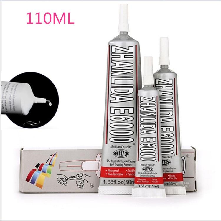 110ml Industrial Liquid E6000 Super Adhesive Hand-painted Artificial Diamond Handle Wire Mesh Crystal Like Glass Diamond