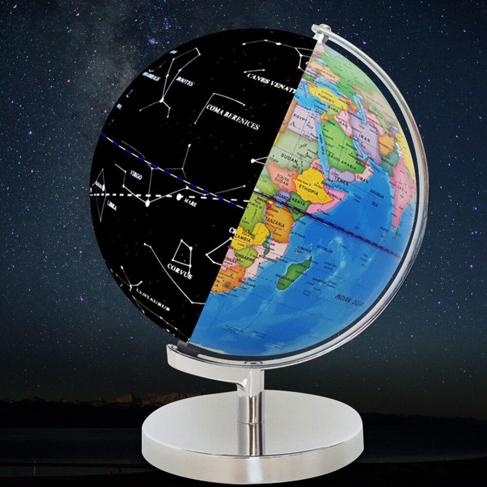 Обучающая игрушка, настольные украшения, учебные материалы, офисные миниатюры, домашняя карта мира, светодиодный светильник, Глобус земли, питание от USB