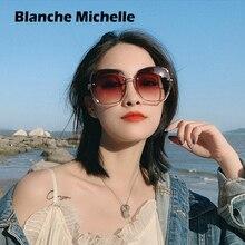 Moda büyük boy güneş gözlüğü kadın 2020 UV400 tasarımcı çerçevesiz kare güneş gözlüğü kadın Vintage Sunglass bayan Retro kutusu ile Sunglasses Women Sun Glasses Woman gozluk