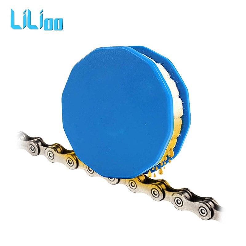 Велосипедная роликовая цепь масленка смазывающая велосипедная Шестерня роликовый очиститель смазка с магнитом ремонт велосипедной цепи И... title=