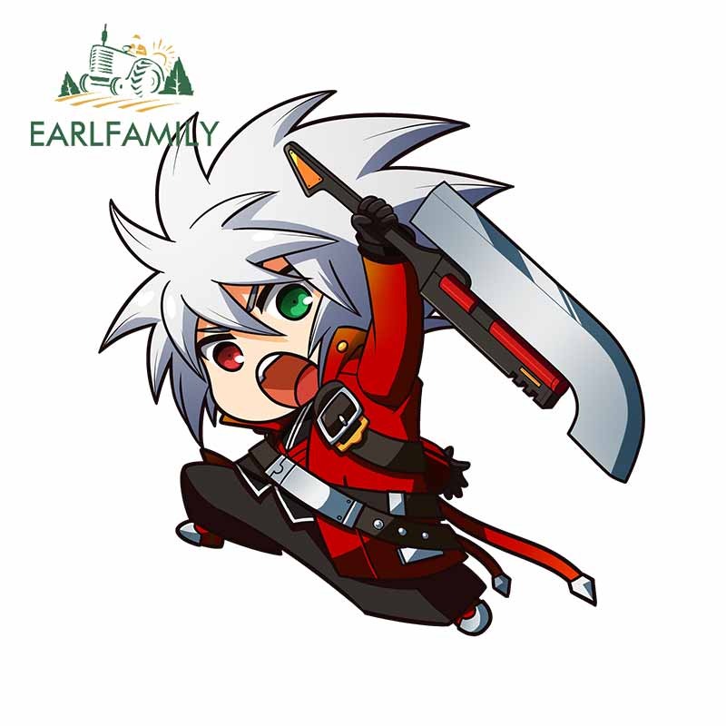EARLFAMILY 13cm <font><b>x</b></font> 12.9cm for Ragna From BlazBlue Vinyl Car <font><b>Sticker</b></font> <font><b>Motorcycle</b></font> Car Waterproof Fashion Windshield Decals image