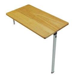 Mały stół do jadalni składany stół ścienny do domu prosty prosty prostokątny Laptop z litego drewna