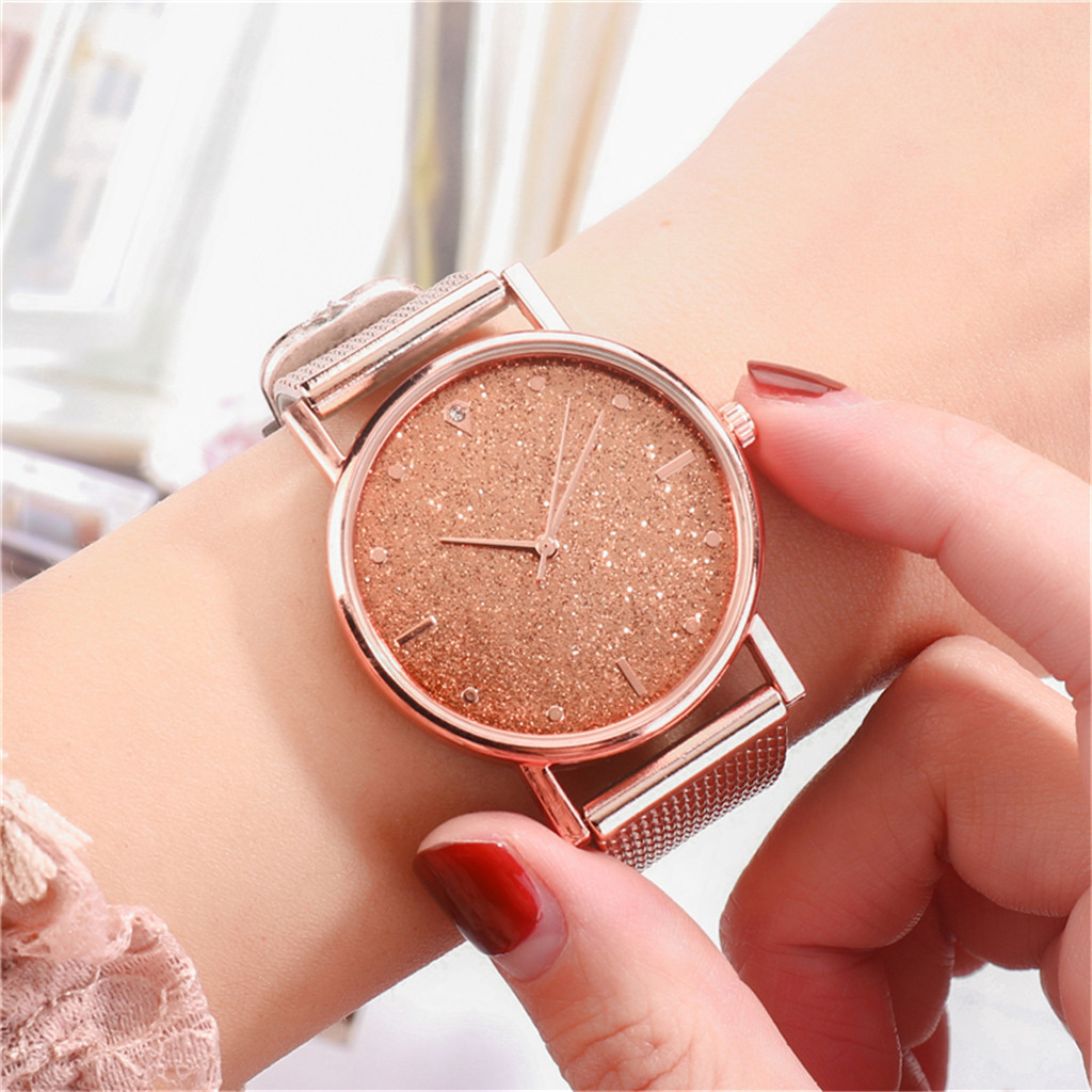 Fast delivery Fashion Business Women Watch Luxury Watches Quartz Watch Stainless Steel Dial Casual Bracele Watch Female new 1