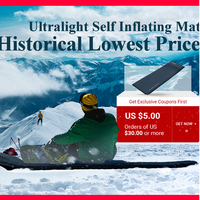 KingCamp Self Inflating Camping Ultralight Mattress Durable Oxford PVC Sleeping Pad for Camping Hiking Sleeping mat with pillow