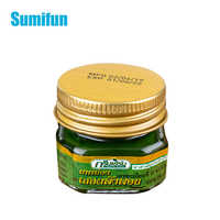1pcs Thailand Green Herbal Blam Cooling Oil Refresh Headache Muscle Rub Aches Pain Relieving Cream Itching Abdominal Ointment