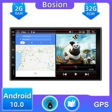 32G 2 din radio samochodowe gps android 10 0 samochodowe stereo odtwarzacz kasetowy rejestrator Tuner radiowy nawigacja GPS RDS 4G TV pudełko DAB OBD tanie tanio bosion Double Din 4*45W System operacyjny Android 10 0 Video cd Jpeg Metal 1024*600 Bluetooth Wbudowany gps Nadajnik fm