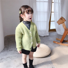 Ins Baby Girls Cardigans Solid Color Knitted Jacket For Princess Sweaters Kids Knitwear Fall Winter Childrens Outerwear