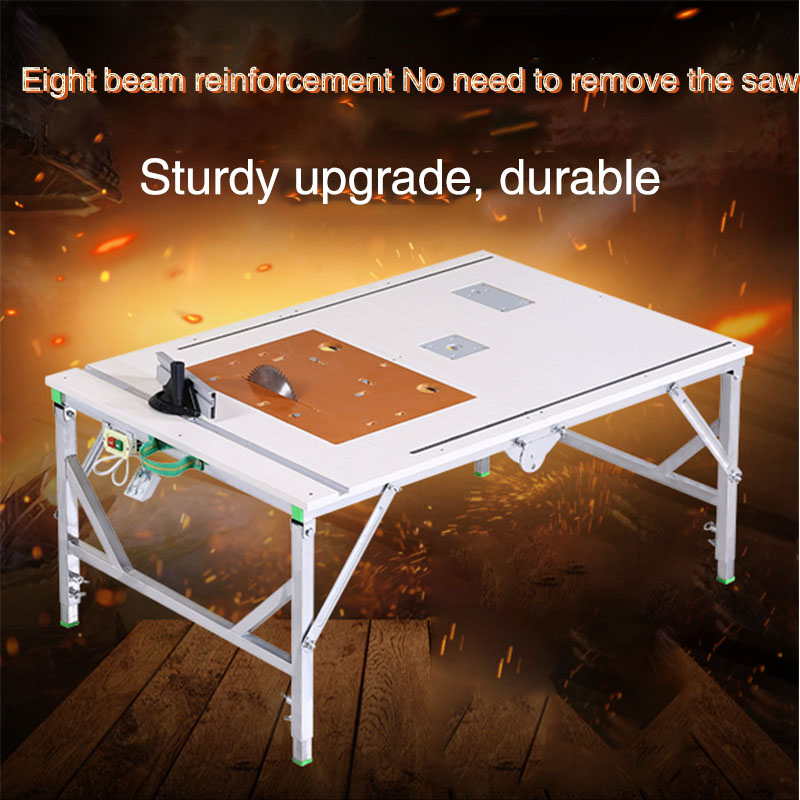 DIY Multi-function Portable Electric Woodworking Table Saw Small Table Saw Desktop Decorative Table Folding Table