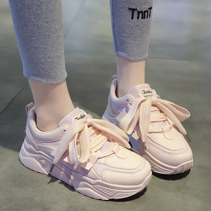 Hot Sale Sneakers Women Tenis Luxury Shoes Woman Designers Ladies Shoes Spring Women Casual Shoes Chunky White 2019 Basket Femme