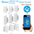 Sonoff T2 UNS EU T1 UK Smart Wifi Schalter 1 2 3 Gang WiFi/RF/APP Smart Home fernbedienung Wand Touch Timer Schalter Arbeit mit Alexa