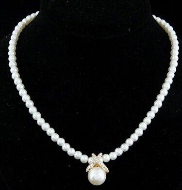 Ожерелье из искусственного жемчуга, высокое качество, не вызывает аллергии, опт, золотой цвет, массивное ожерелье, цепочка,, жемчужные украшения - Окраска металла: XL407-Gold