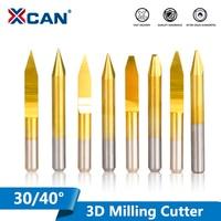 XCAN 10 stücke 30/40 Grad V Form PCB Gravur Bits Hartmetall CNC Ende Mühle Flachen Boden Router Bit 3D Fräsen cutter-in Fräser aus Werkzeug bei