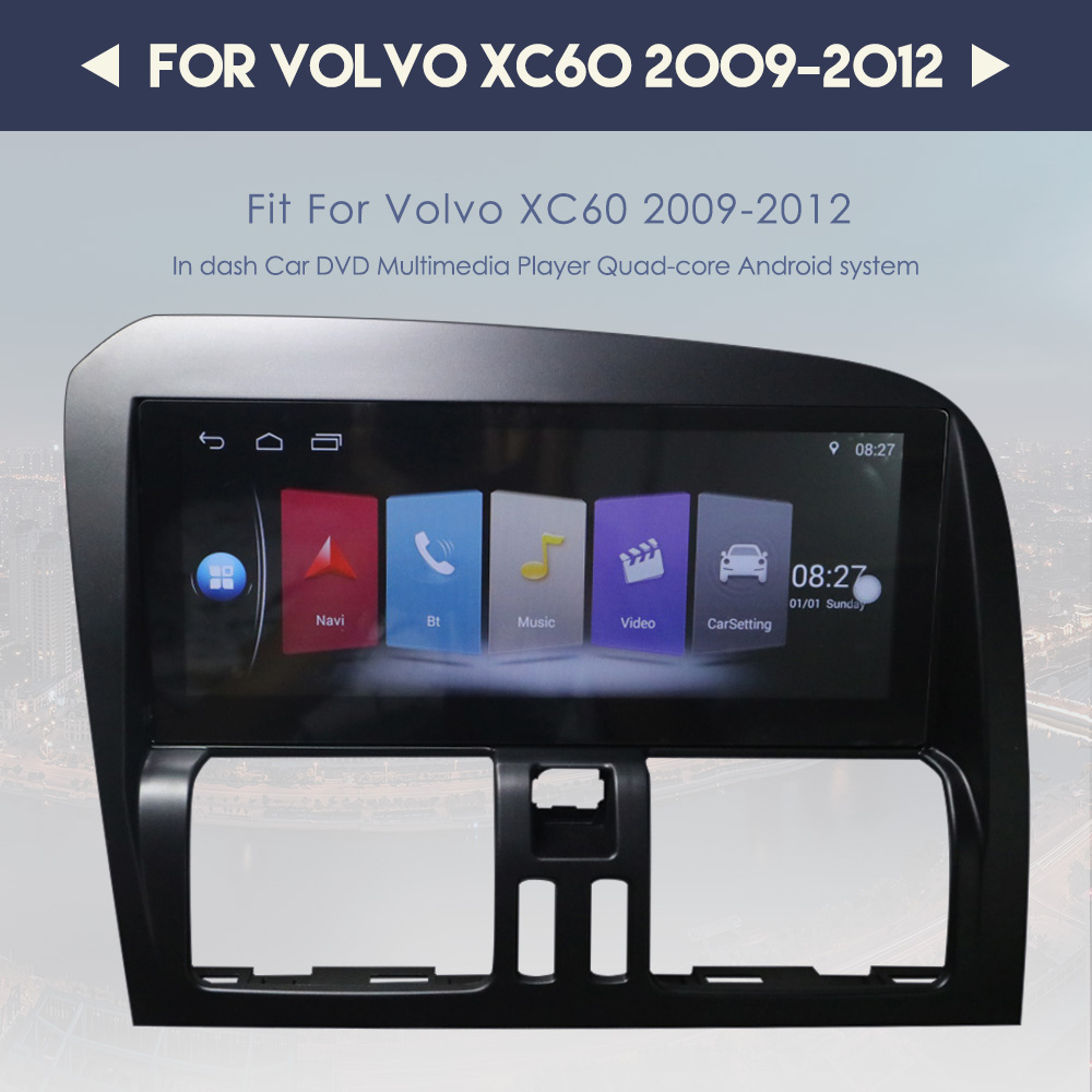 Android 8.1 4G+32G car Gps navigation Stereo unit For <font><b>Volvo</b></font> <font><b>XC60</b></font> 2009-2016 Multimedia Player Rdio tape recorder Auto Radio Unit image