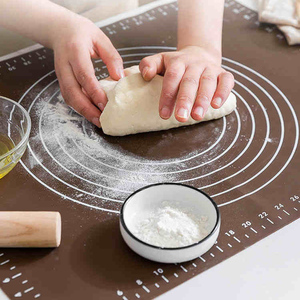 Silicone Non-Stick Thickening Mat Rolling Dough Liner Pad Pastry Cake Bakeware pizza cake board Kitchen baking accessories