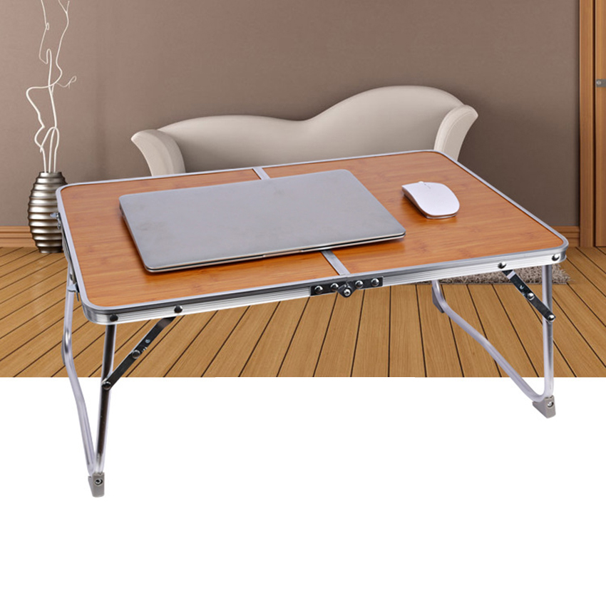 Notebook Stand Holder Double Folding Computer Table Portable Bed Sofa Laptop Table Study Table Writing Desk Home Furniture