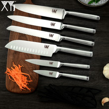 XYj Kitchen Knife Set 7cr17 Stainless Steel Structure Knives Fruit Utility Santoku Chef Slicing Bread Lightweight Cooking