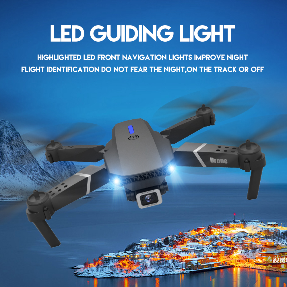 4K HD Dual Camera Drone LSRC-E525 Foldable RC Drone Add Music Zoom LS-E525 2020 New Hight Set Quadcopter Aircraft RC Helicopter