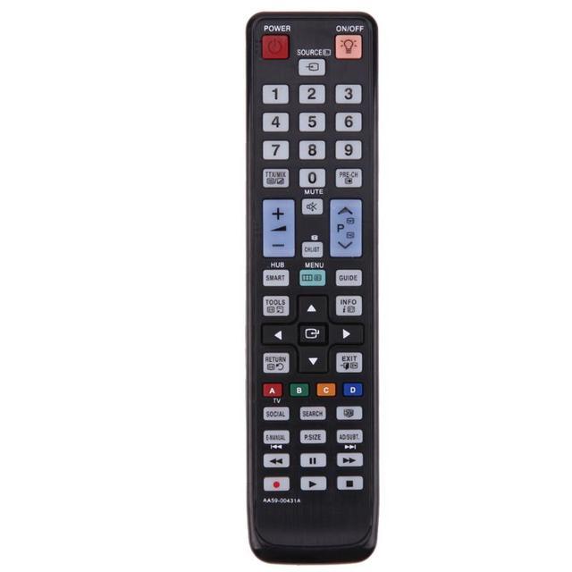 Nova substituição de controle remoto tv para samsung lcd/led 3d tv AA59 00431A controle remoto sem bateria