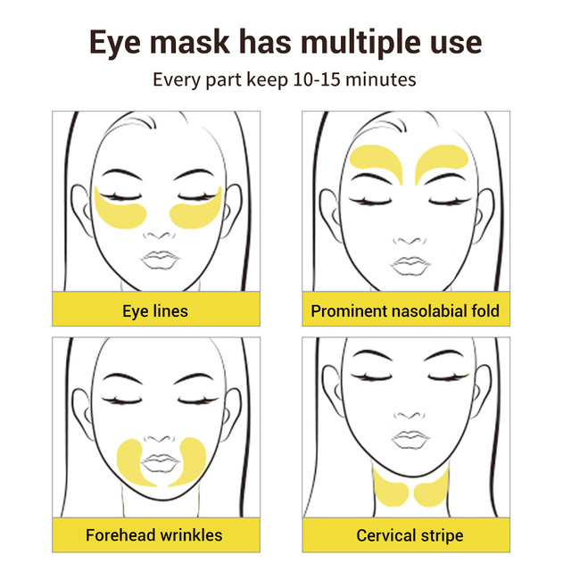 LANBENA Eye Mask Gel Retinol Gold Collagen Eye Patch Reduce Dark Circles Puffy Eyes Fine Lines Anti Aging Moisturizing Eyes Care 5