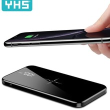 Wireless 30000mah Power Bank Dual USB quick Charge Mirror Sc