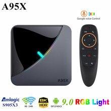 Set-Top-Box A95XF3 Smart Android Amlogic S905x3 Media-Player 8K 60fps Wifi RGB Light