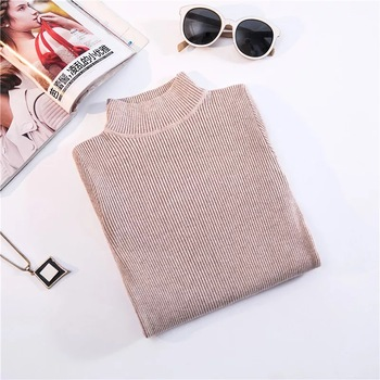 Marwin New-coming Autumn Winter Turtleneck Pullovers Sweaters Primer shirt long sleeve Short Korean Slim-fit tight sweater 14