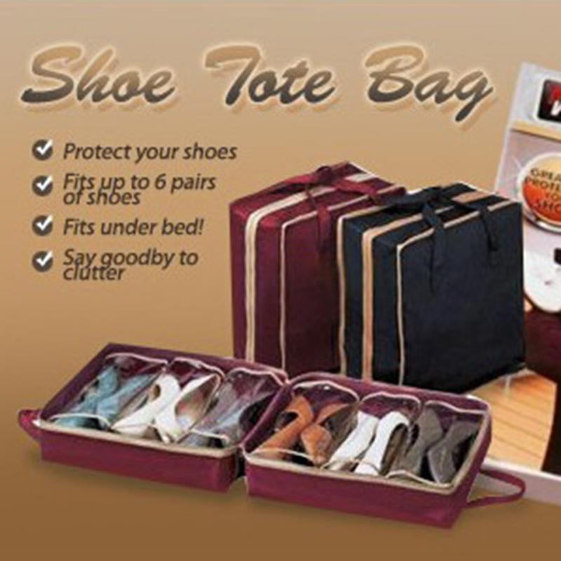Сумка-органайзер для обуви из нетканого материала, 6 ячеек