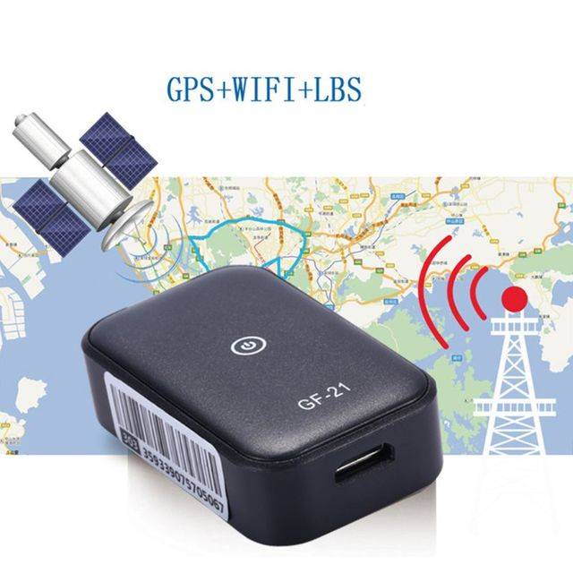 GF21 Mini GPS Real Time Car Tracker Anti Lost Device Voice Control Recording Locator High definition Microphone WIFI+LBS+GPS Pos