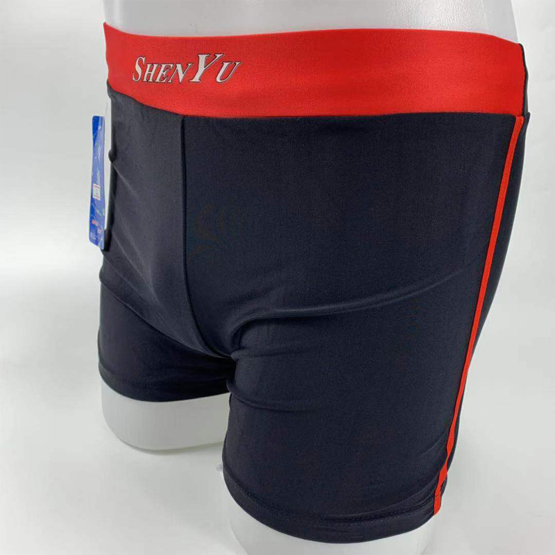 MEN'S Swimming Trunks Shen Yu Swimming Trunks Printed Mixed Colors Boxer Solid Color Beach Shorts Hot Springs Quick-Dry-Style Ma