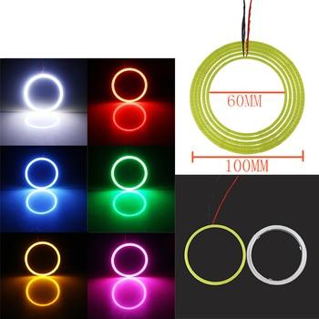 1 пара (2 шт.) 60 мм 70 мм 80 мм 90 мм 100 мм ангельские глазки с объективом COB Чип SMD Автомобильный светодиодный фонарь COB светодиодный CCFL Halo Кольцо ан...