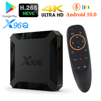 цена на Set Top X96Q Android 10.0 TV Box 4K Quad Core 4K 2GB 16GB 5ghz Wifi Voice Remote Control Media Player Android Smart TV Box X96