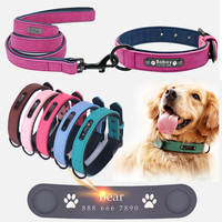 Dog Collars Personalized Custom Leather Dog Collar Name ID Tags For Small