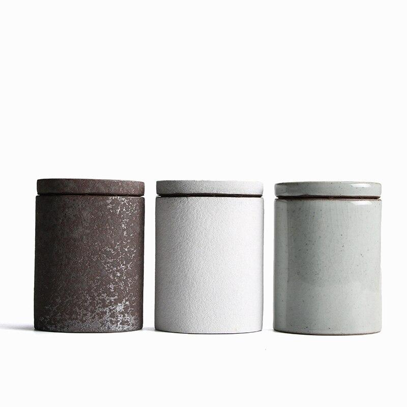 LUWU Ceramic Tea Caddies Porcelain Tea Canisters Kung Fu Tea Accessories For Tea