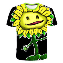 Children T shirts Plants Vs Zombies Wars Boys Clothing Cartoon Game Pattern Boys Clothes Kids O-Neck T-shirt Summer Tops 4-14T children s clothes plants vs zombies wars t shirt boys t shirt kids cartoon tshirt baby girls boys clothing summer cool tops tee
