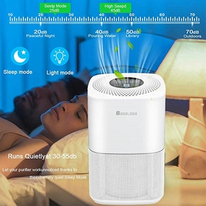 Image 3 - RIGOGLIOSO air cleaner TURE HEPA air purifier 4speed adjustment eco purificateur air hepa screen display air filter high quality