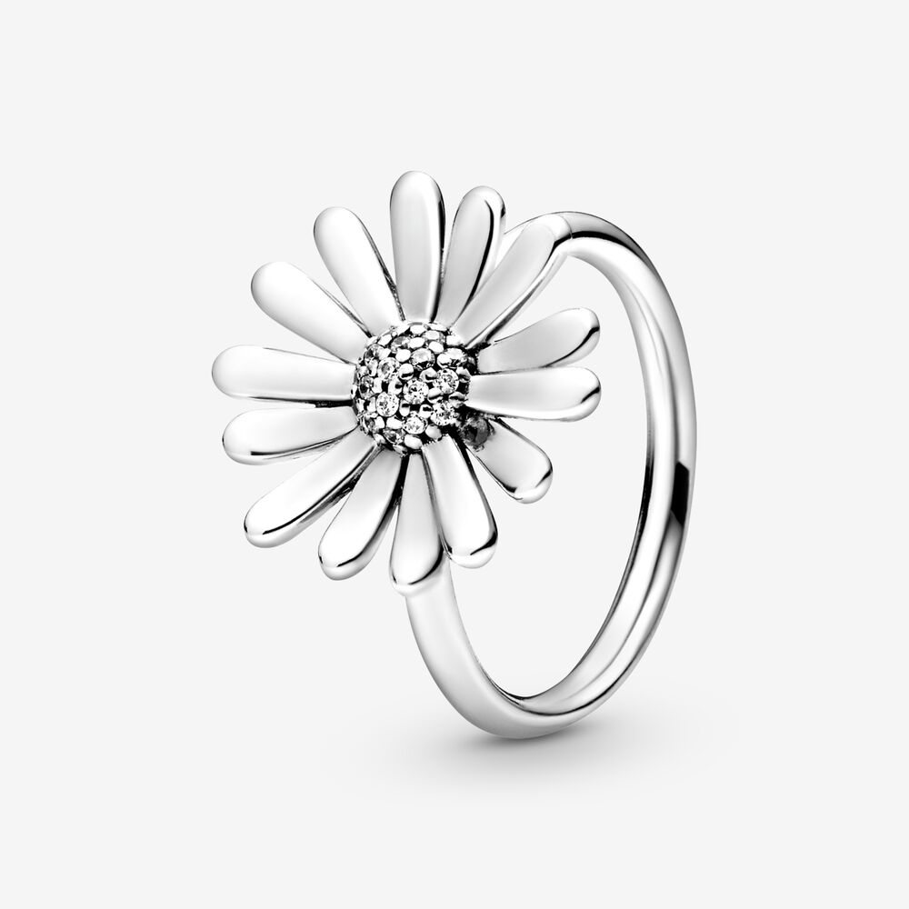 Size 6 Daisy Flower Satin Brushed 925 Sterling Silver Handmade Ring 7 8.5