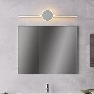 Image 2 - Black/White Modern LED Mirror Lights 0.4M~0.8M wall lamp Bathroom bedroom headboard wall sconce lampe Anti fog espelho banheiro