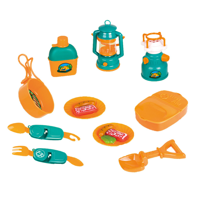 15 Pcs Kids Camping Set Toys Indoor And Outdoor Toy Best Present Outdoor Toy Tools Set Kids Toys Parent-Child Interaction Set