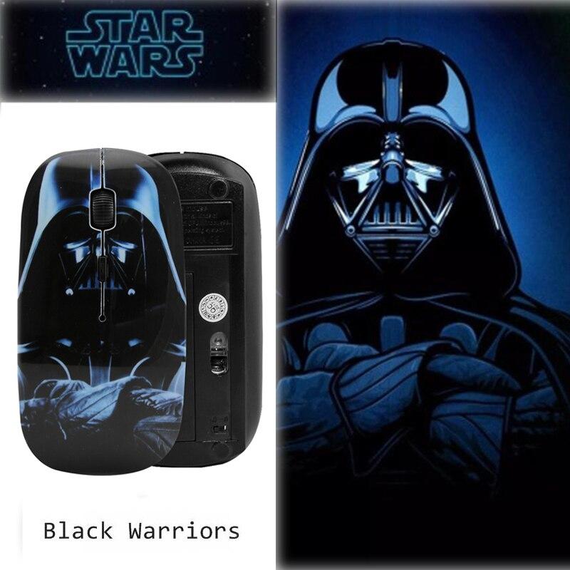 CHYI Star Wars Wireless Computer Mouse Creative 3d Cartoon Usb Optical PC Mause Black Warriors Ultra Thin Mini Mice For Macbook