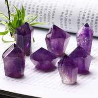 1PC Natural Crystal Amethyst Wand Quartz Crystal Mineral Jewelry Modern Home Decoration Garden Decoration Accessories DIY Gifts