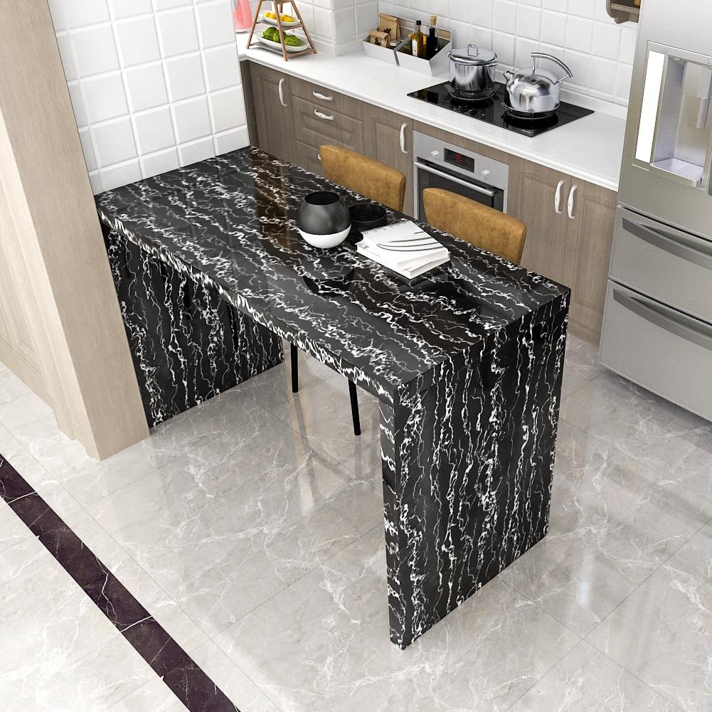 Self Adhesive Marble Vinyl Wallpaper Roll Furniture Decor Film Waterproof Kitchen Cupboard Contact Paper DIY Wardrobe Home Decor